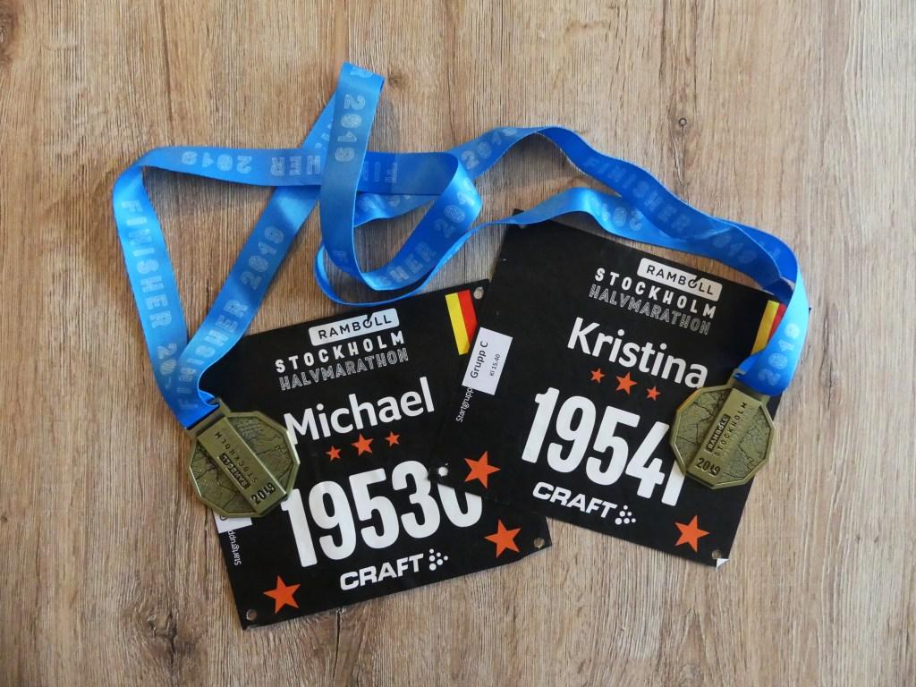Medaille Halbmarathon Stockholm 2019