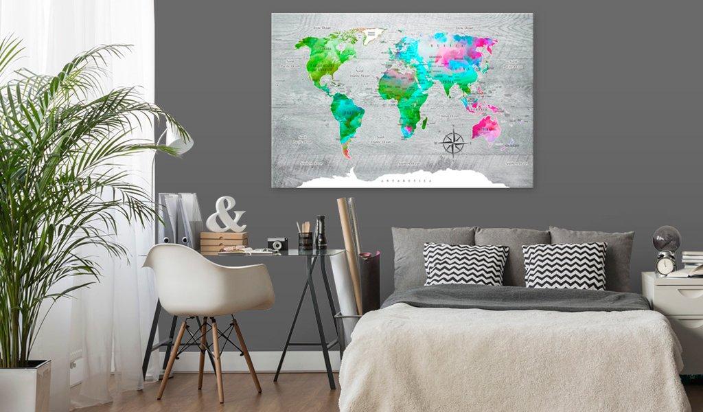 Pinnwand Weltkarte Europakarte Geschenkideen