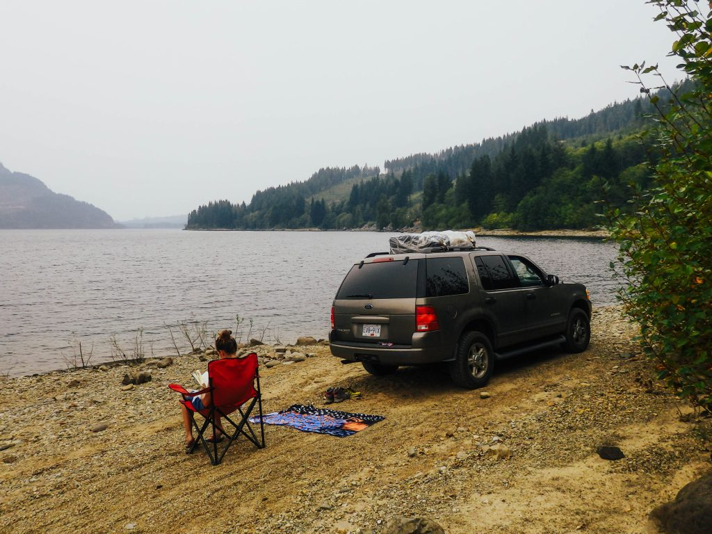 Vancouver Island Camping Lake relax
