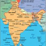 India Political And Adjacent Countries Map Map Of India And Surrounding Countries Southern Asia Asia