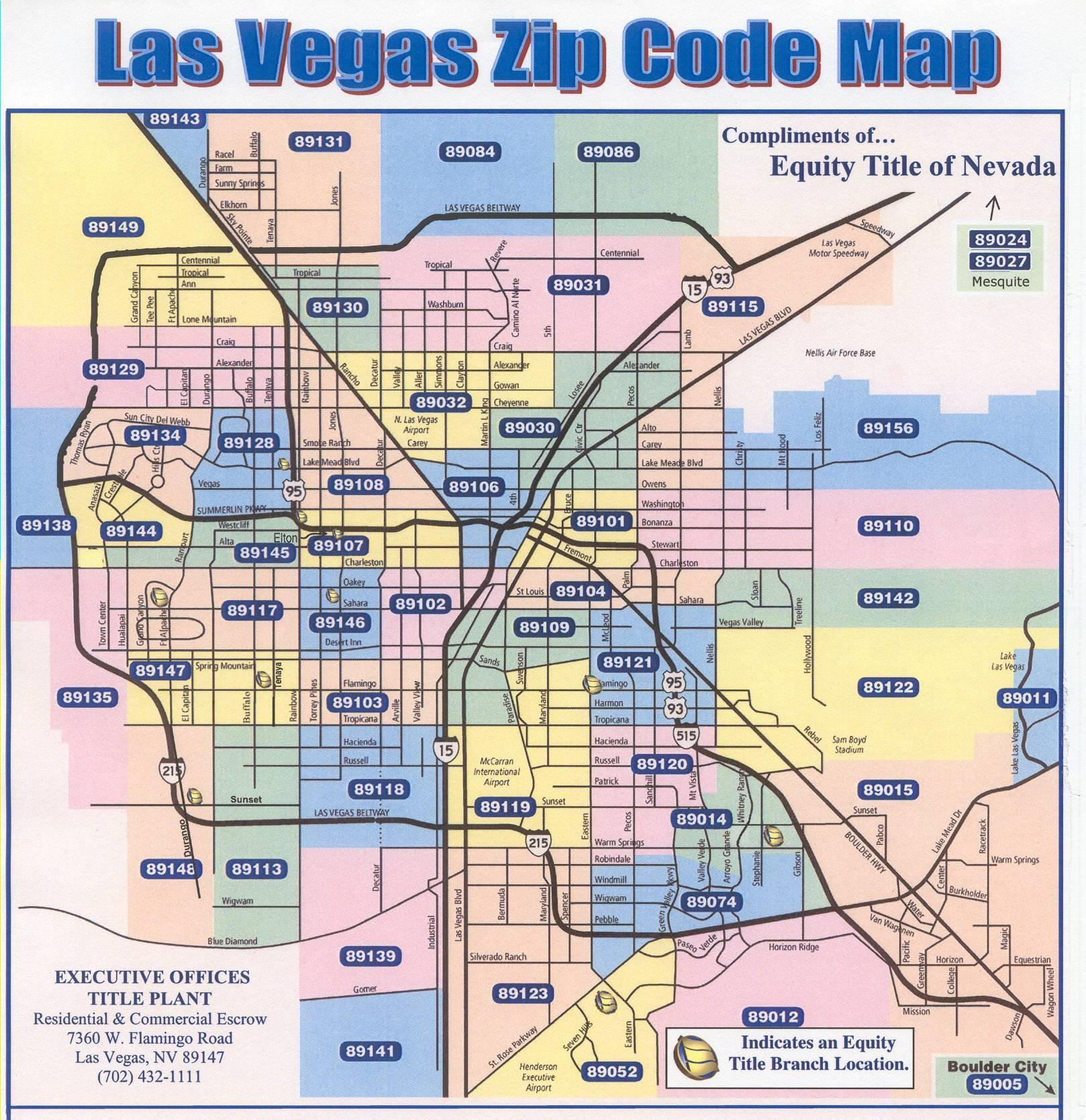 Map Vegas Code Zip Nv Las 2017