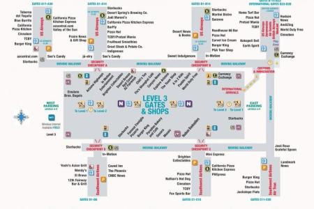 phoenix airport terminal gate map » Full HD MAPS Locations - Another ...
