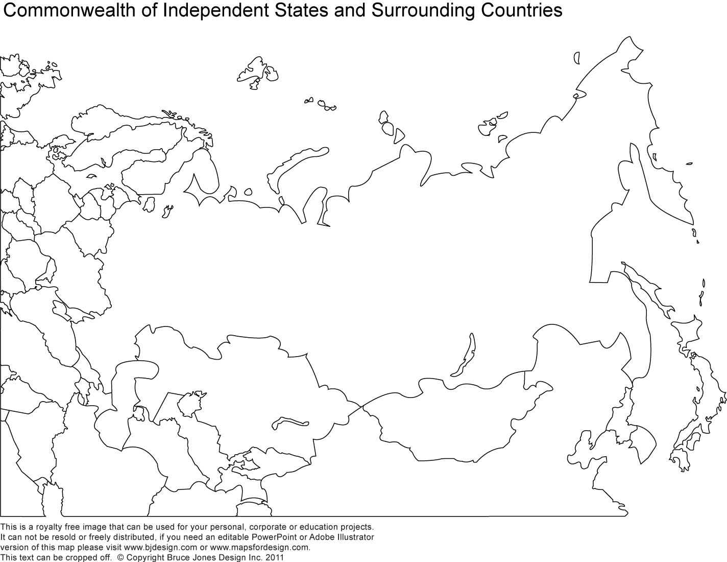 Blank Map Of Russia And Surrounding Countries