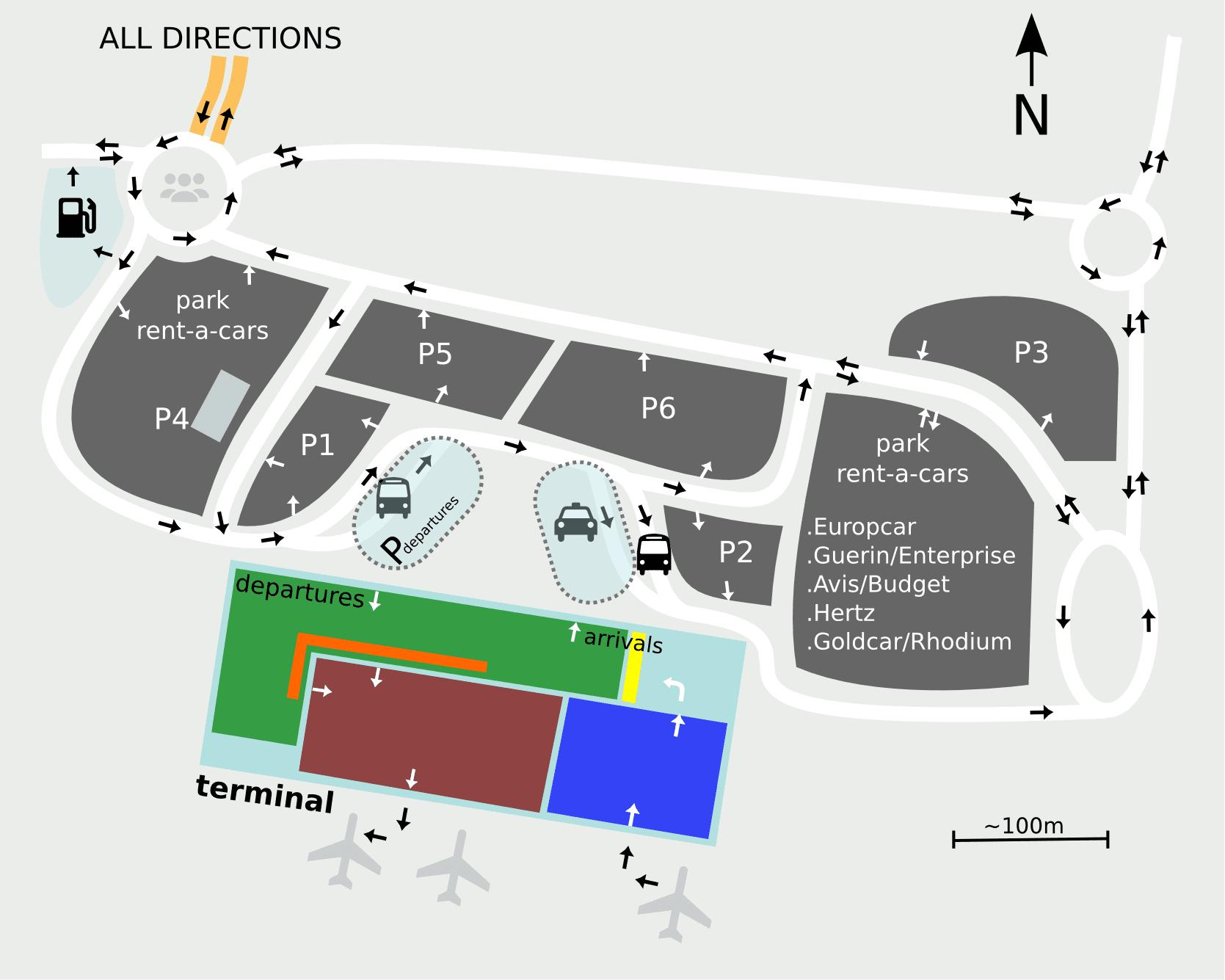Airport Saint Petersburg Map