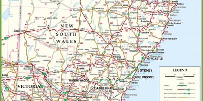 Sydney map   Maps Sydney  Australia  Map of nsw coast