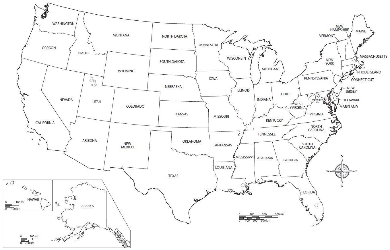 United States Map Worksheet