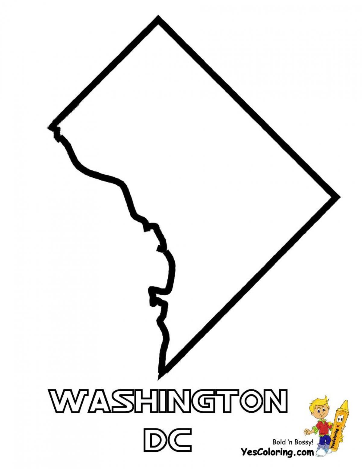 Washington Dc Map Outline