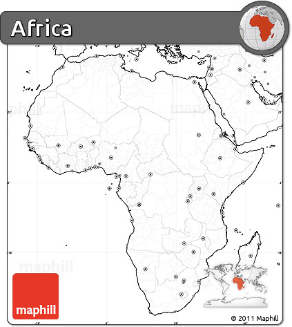 ... Free Fancy Blank Simple Map Of Africa No Labels ...