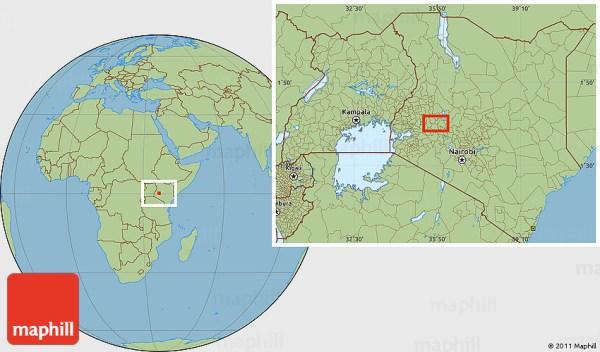 Savanna Style Location Map of Esageri