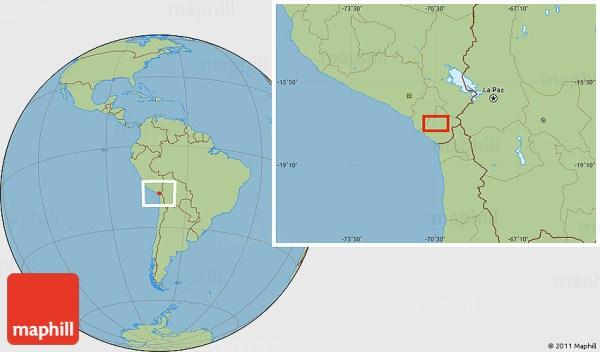 Savanna Style Location Map of Ancocirca
