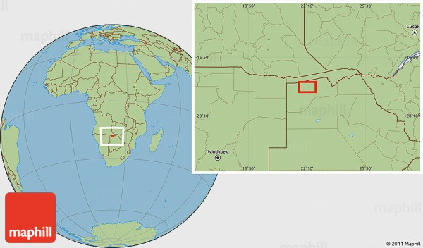 Savanna Style Location Map of Samusipas