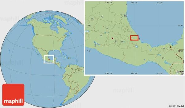Savanna Style Location Map of Acazónica