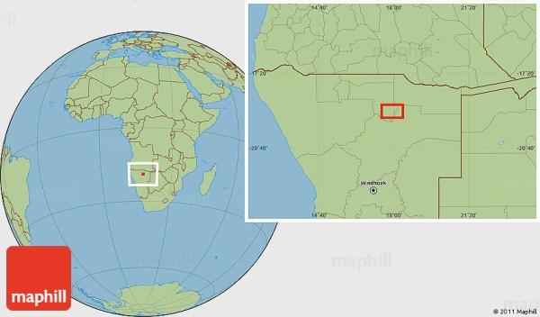 Savanna Style Location Map of Driemaal