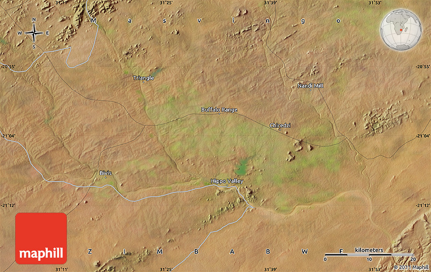 Satellite Map of Bivis