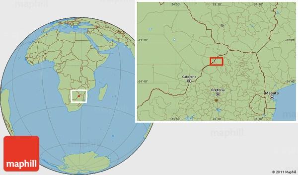 Savanna Style Location Map of Tom Burke