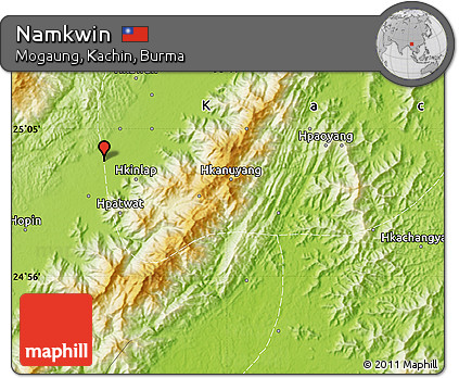 Physical Map of Namkwin