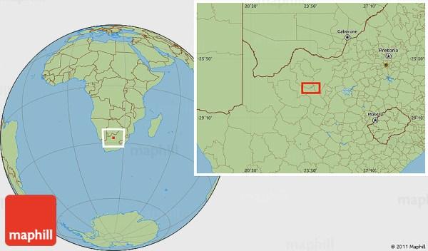 Savanna Style Location Map of Ga-Masepa