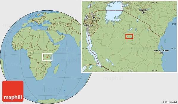 Savanna Style Location Map of Sepuka