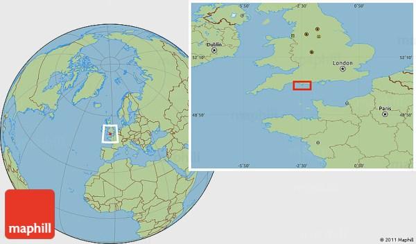 Savanna Style Location Map of Bincombe