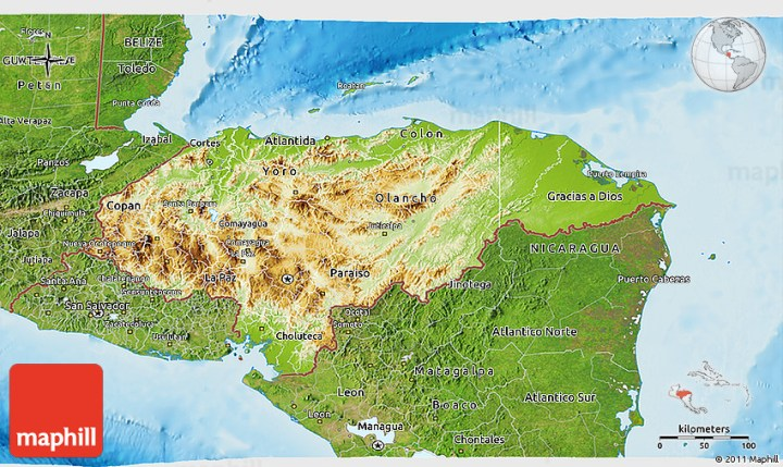 Map of yellow sea best country and world map country and world map physical 3d map of honduras satellite outside shaded relief sea 2d publicscrutiny Images