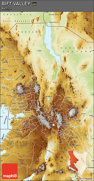 Physical Map of RIFT VALLEY