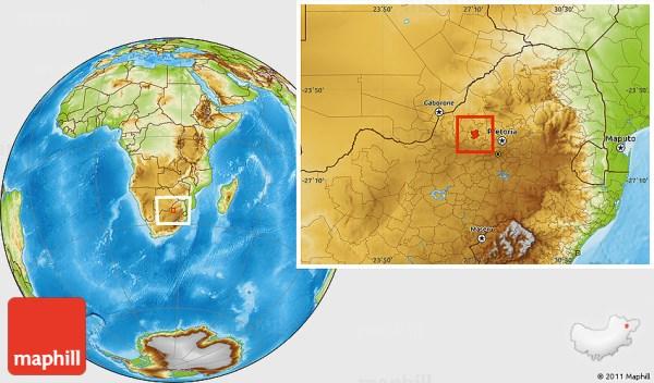 Physical Location Map of BAFOKENG