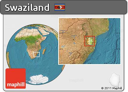 Swaziland location map