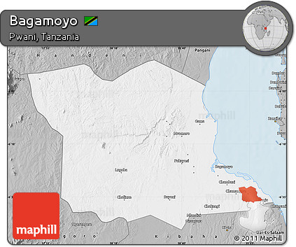 Gray Map of Bagamoyo