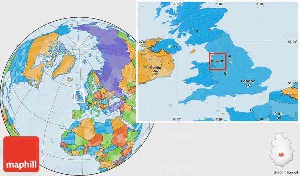 Political Location Map of Warrington