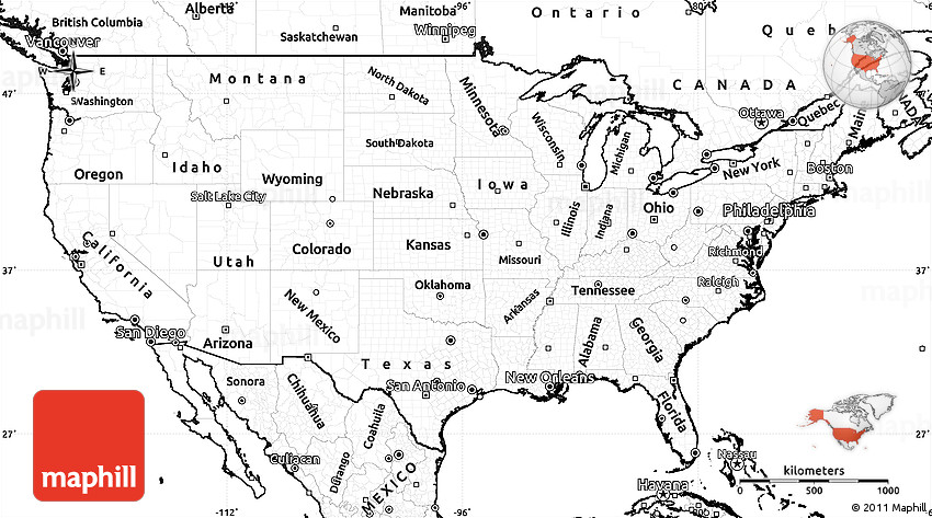 Additionally, travelers love to check out the suggests as there are exciting things. Blank Simple Map Of United States