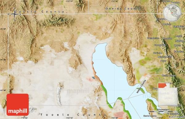 Satellite Map of Box Elder County