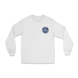 Support Psychedelic Science Organic Crewneck Long Sleeve Shirt White