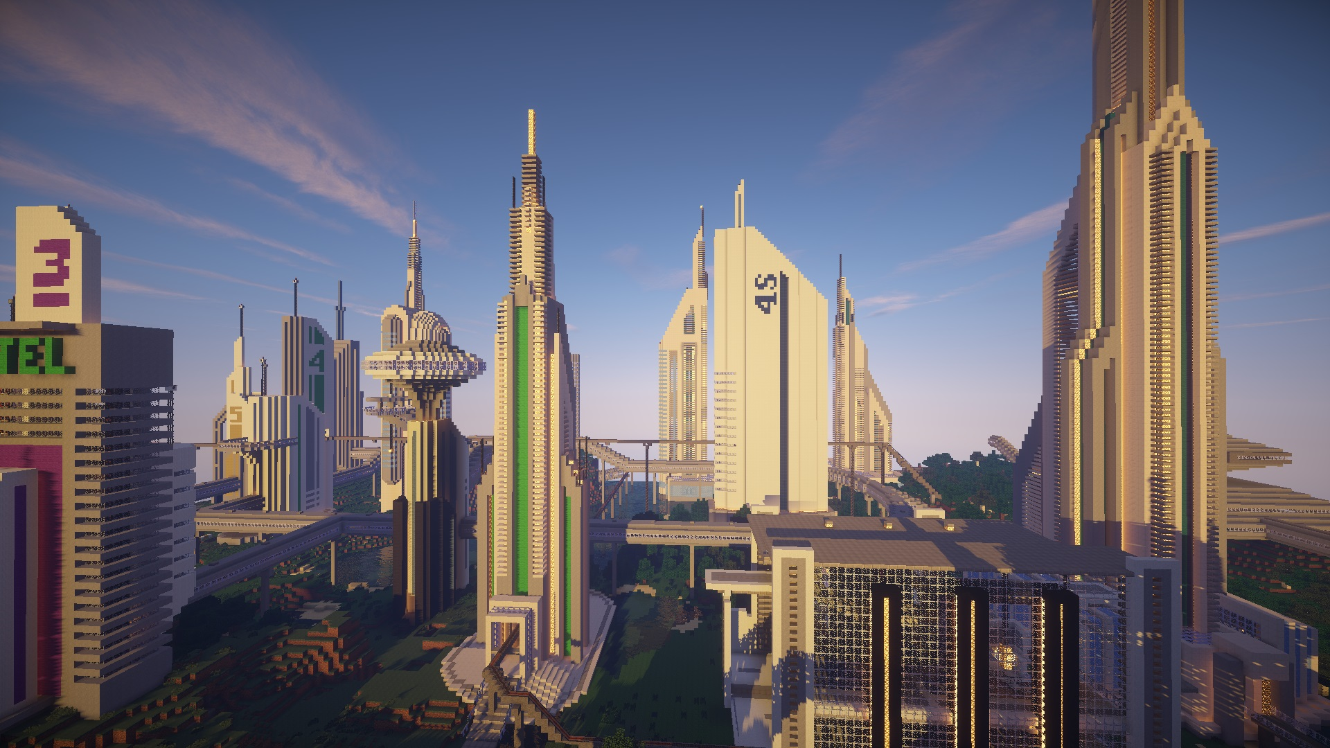 Future CITY 20 Maps For Minecraft Free Download
