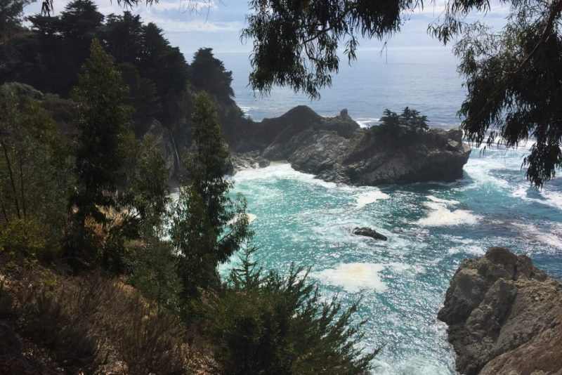 Driving Big Sur - McWay Falls; Big Sur road trip tips