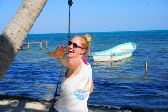 Swings- things to do in Caye Caulker