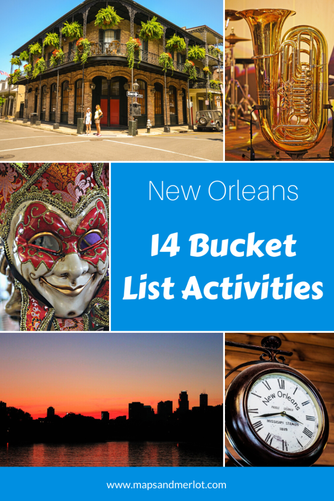 New Orleans bucket list; travel New Orleans; New Orleans itinerary; top tourist attractions in New Orleans