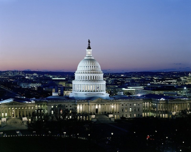 top Washington DC tourist attractions - Capitol at night