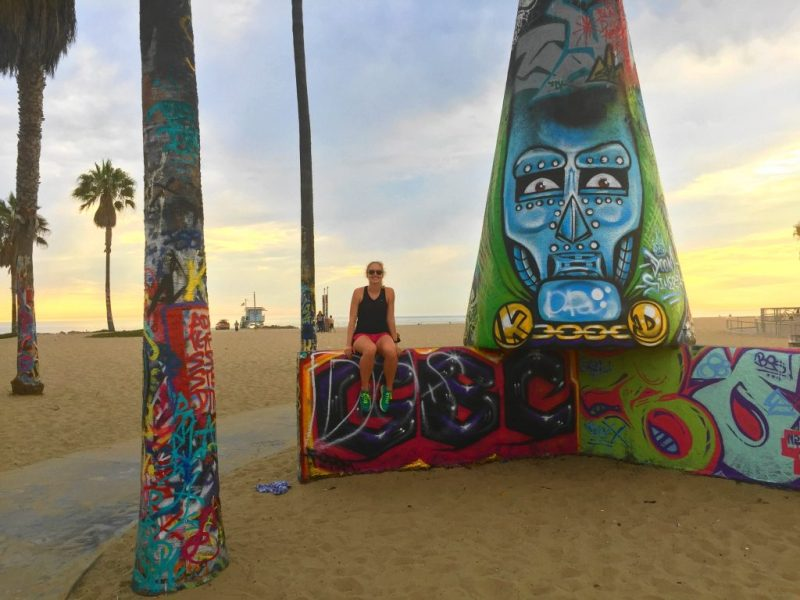 8 day Pacific Coast Highway road trip itinerary - Venice Beach sunset