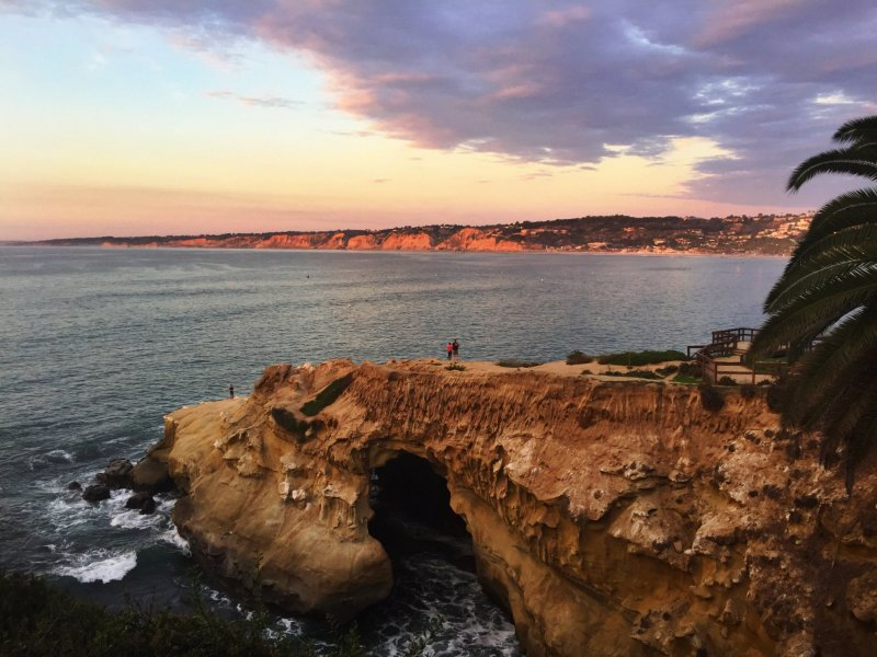 8 day Pacific Coast Highway road trip itinerary - La Jolla sunset