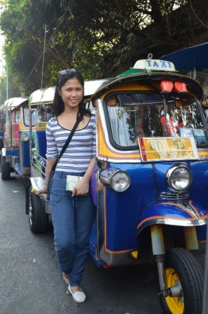 Mandatory photo with tuktuks
