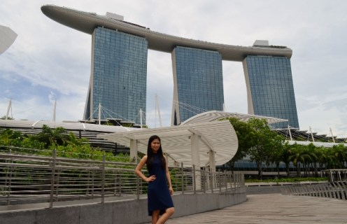 First Glimpse of Marina Bay Sands
