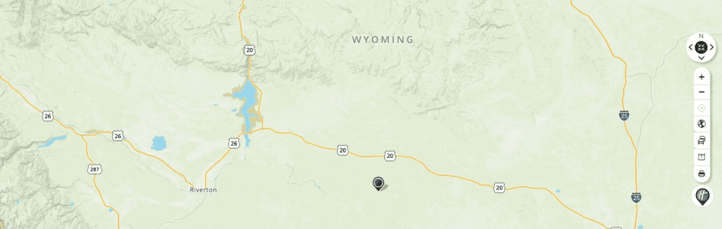 Mapquest Map of Wyoming and Driving directions