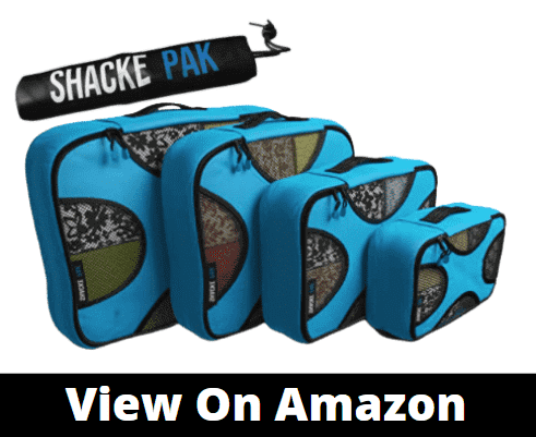 Shacke Pak 5 Set Packing Cubes comes in different colors