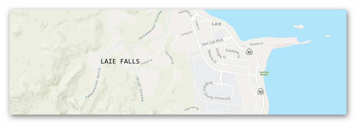 laie falls oahu hawaii