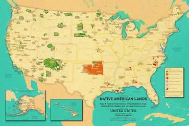 Mapsmitha Modern Map Of Native American Lands Mapsmith - Map-of-native-american-reservations-in-the-us