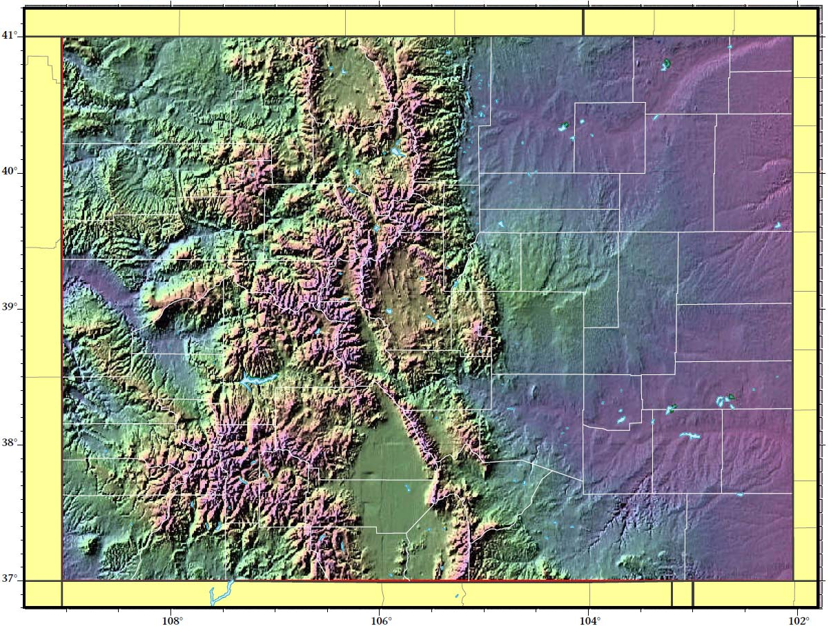 Colorado Relief Map     Mapsof net Colorado Relief Map large map