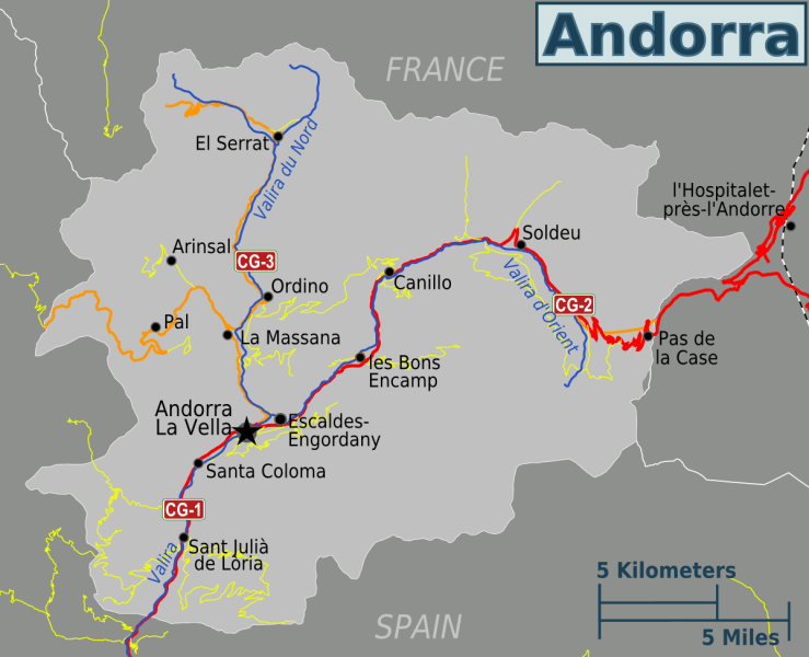 Andorra Map 1     Mapsof net Andorra Map 1 large map