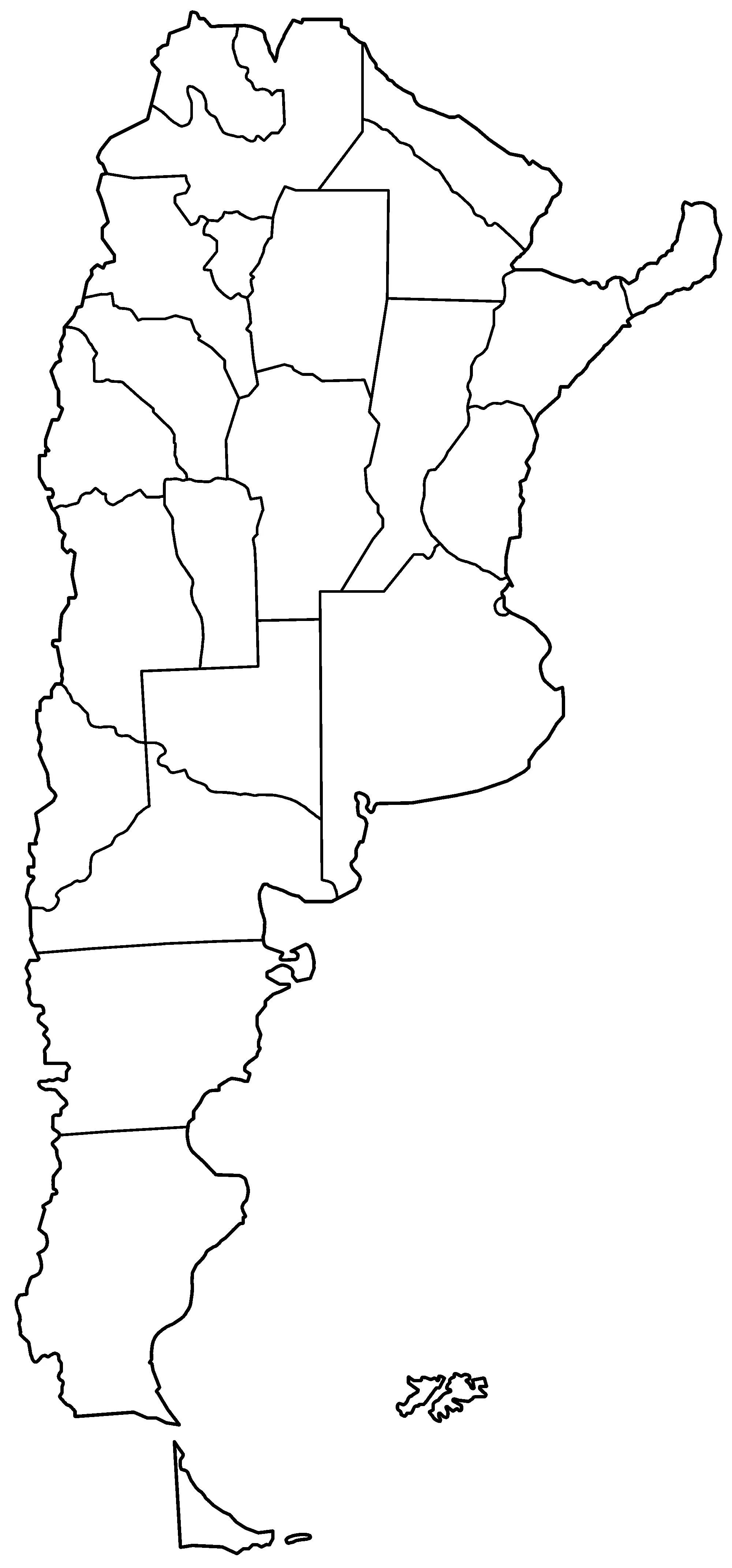 Argentina Provinces Blank Mapsof