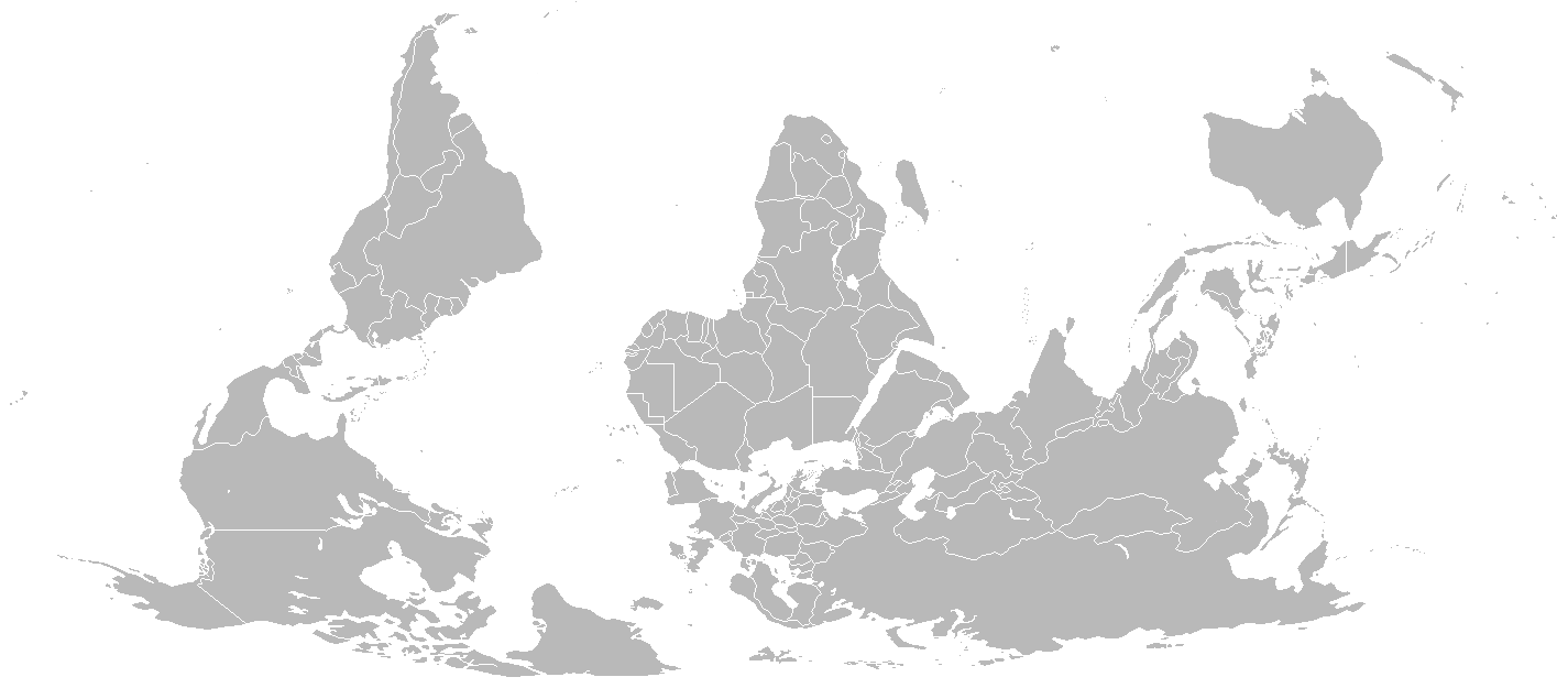 Blank Map World Reversed • Mapsof.net