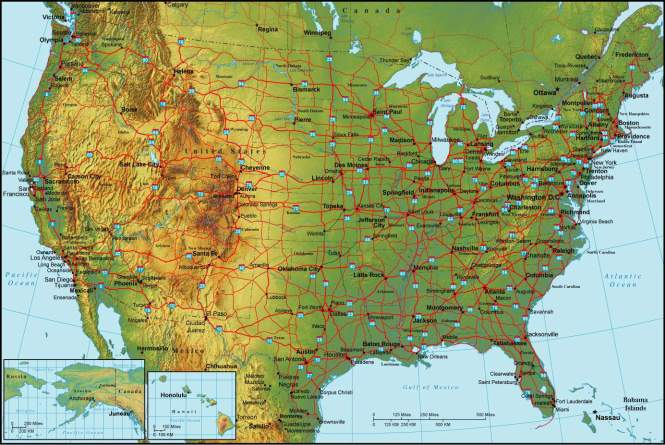 Rivers Of The United States Popular River - Map of us states and rivers